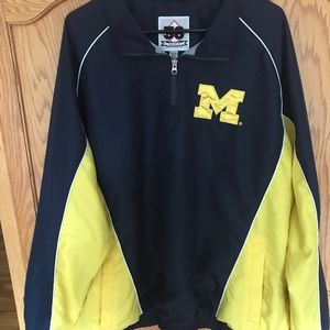 🏈Michigan Wolverines Pullover Jacket with zipper